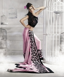 sareegalaxy - Pink Art Silk Saree with Blouse