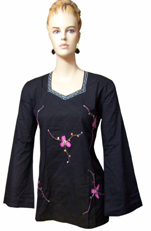 Black Cotton Kurtis
