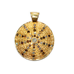 Designer Ice Daimond Gold Pendant