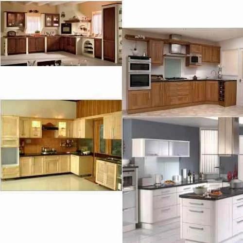 L Wooden Modular Kitchen Manufacturer: Wooden Modular Kitchen Manufacturer