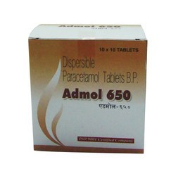 Dispersible Paracetamol Tablets B.P. 650mg
