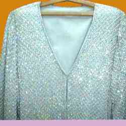Silver Beaded Jacket