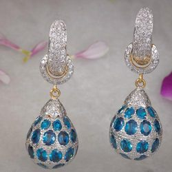 Fancy Silver Earring (With Cubic Zircons)