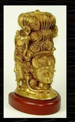 Shiva Brass With Wood