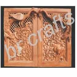 Wooden Temple Door