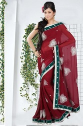 Designer Red Sarees