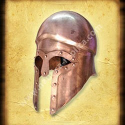 Greek Spartan Helmet Patina Finish