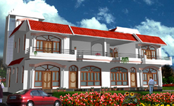 Front Elevation For Residence Building