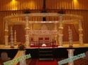 Wedding Fiber Crystal Golden Mandap