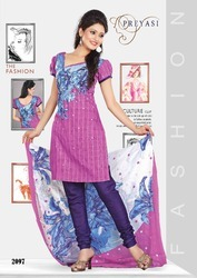 Preyasi Cotton Printed Salwar Kameez Dress Material
