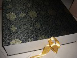 Fabric Covered Fancy Brocade Boxes