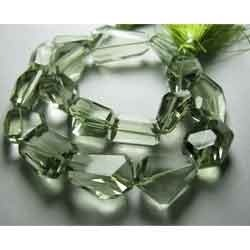 AAA - Brazil Green Amethyst Faceted Step Nuggets