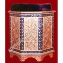 White Metal Meena Painting Sofa Stool