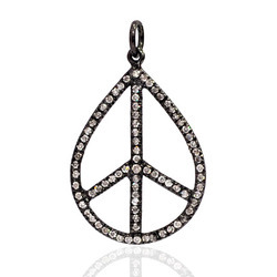 Diamond Peace Pendants