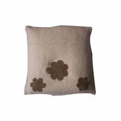 Jute Thread Work Cushion Cover