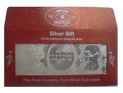 Silver note of Rs.1000 with envelope