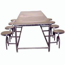 Tables stainless steel canteen table manufacturer from for Dining table tj hughes