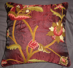 CrewePillow PuppieAllium Vermillion Silk Organza