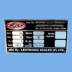 Aluminum Metal Labels
