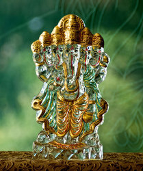 Panchmukhi Ganesha 24 Ct Gold Plated