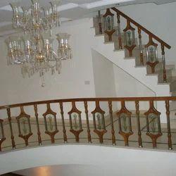 Wooden glass railing wood glass railing manufacturer - Glass and wood railing design ...