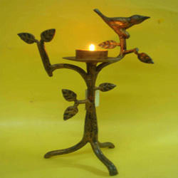 Bird Iron Candle Holder  ( CS DC - )