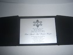 Silk Fabric Covered Boxes For Invites