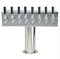 T Tower With 8 Taps Brushed Stainless Steel 304