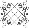 Wrought Iron Rosettes