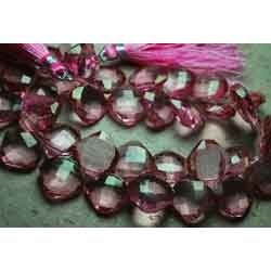 Finest Pink Mystic Quartz Faceted Hexagon
