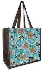 Flowers Paint Jute Beach Bags