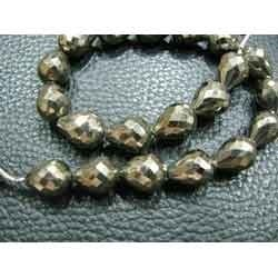 Finest Pyrite - Faceted Tear Drops -Nuggets
