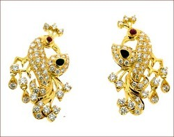 Peacock Diamond Earrings