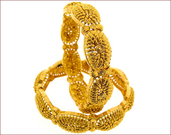 Gold Filigree Bangles
