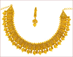 Plain Gold Necklace Set (Type-1)