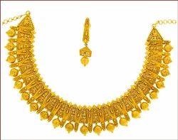 Plain Gold Necklace Set (Type-1)