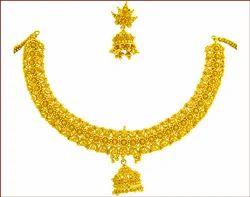 Plain Gold Necklace Set (Type-2)