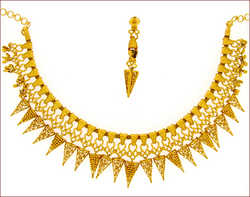 Plain Gold Necklace Set (Type-3)