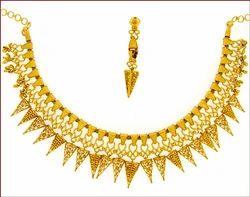Plain Gold Necklace Set (Type-3)