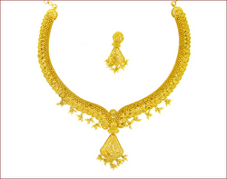 Plain Gold Necklace Set (Type-4)