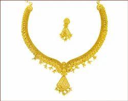 Plain Gold Necklace Set (Type-4)