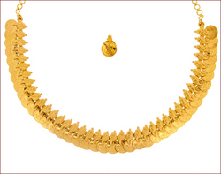 Plain Gold Necklace Set (Type-5)