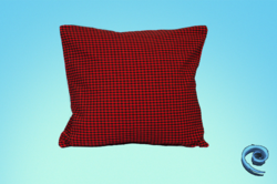 Cushion Cover With Red And Black Checks