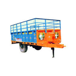 non tipping type tractor trolley