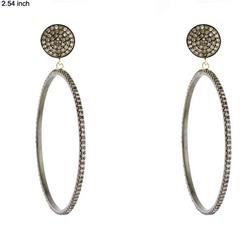 14k gold Diamond hoop earrings Jewelry