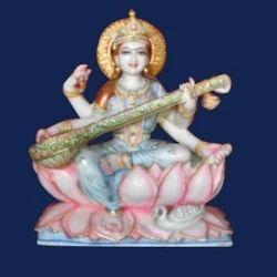 Goddess Saraswati Marble Statue