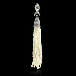 Pearl Beads Diamond Tassel Pendants