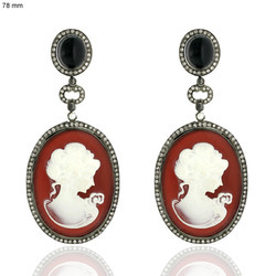 18k Gold Gemstone Cameo Jewelry