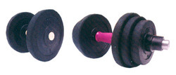 Body Shape Dumbellls Rubberised Black Plates