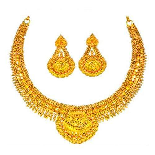 necklace bridal pure design is pin that glitters necklaces all gold jewellery
